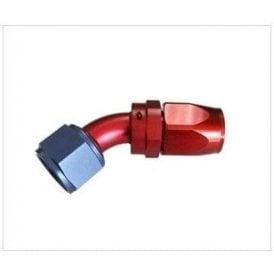 45 Deg AN Swivel Cutter Style Hose fitting